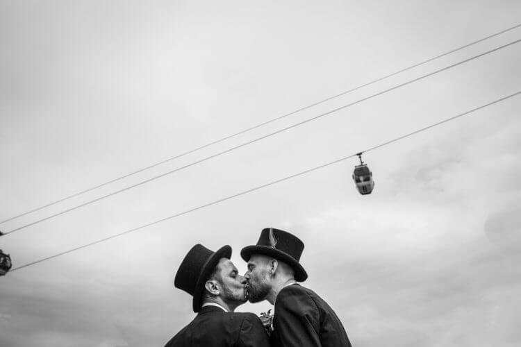 wedding, gay, docks, London