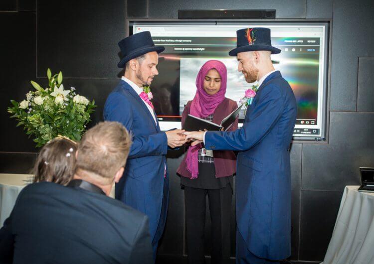 wedding, gay,